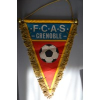 Fanion F-C-A-S-GRENOBLE ancien football GRAND modèle