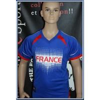 Maillot Enfant FRANCE taille 12/13ans  N°08 (ME446)