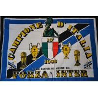 Drapeau Ancien INTER DE MILAN 13&#39 CAMPIONE D&#39ITALIA 1989