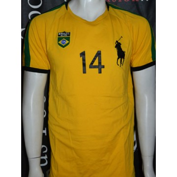 Brazil Ralph Taille Polo N°14 Tee Shirt L Lauren Rqc354ALj