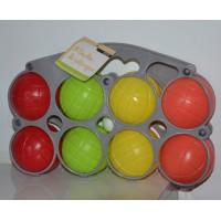 Coffret 8 boules de petanques en plastique NEUF avec étiquette