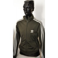 Veste ADIDAS Femme taille 42 Kaki/bandes blanches