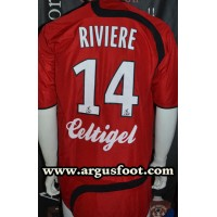 Maillot EAG GUINGAMP porté N°14 LFP RIVIERE taille XL