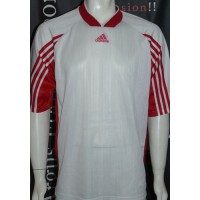 Maillot ancien ADIDAS rétro vintage taille XL blanc rayé rouge