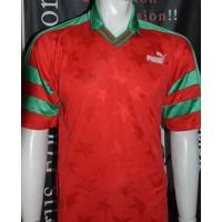 Maillot PUMA ancien rouge et vert taille L