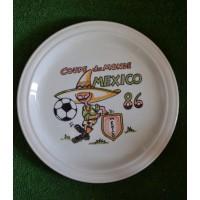 Ancienne Assiette d'époque COUPE DU MONDE MEXICO 86