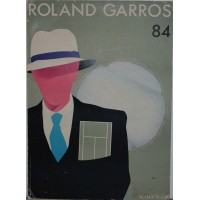 ANCIENNE Affiche ROLANG GARROS 84 Tennis vintage