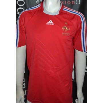 Maillot Officiel FFF Equipe de France NEUF ADIDAS taille L rouge