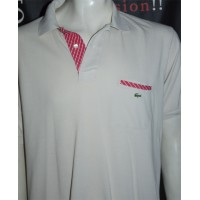 Polo LACOSTE Sport Occasion taille 7 Beige et rose