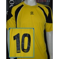 Maillot Football NowOne taille L/XL N°10 jaune