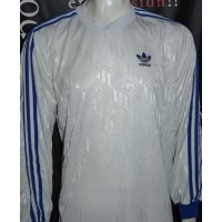 Maillot ADIDAS vintage taille L Blanc manches bleus