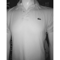 Polo chemise ancien LACOSTE blanc taille 3 (M)