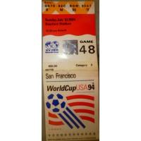Billet Stade WORLD CUP USA94 Brésil - Finlande 1/0