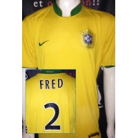 Maillot BRASIL Bresil N°2 FRED taille XL