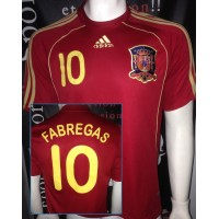 Maillot ESPAGNE N°10 FABREGAS taille M adidas