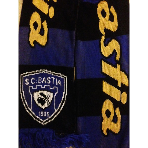 726a4a83e182 Echarpe SCB BASTIA rare supporter - ARGUS FOOT   SPORTS