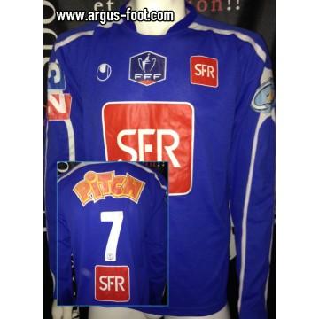 Maillot CDF porté N°7 FFF SCB BASTIA taille XL Uhlsport