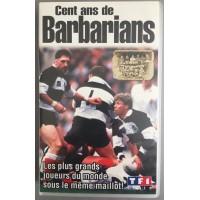 Cassette VHS K7 RUGBY Cent ans de BARBARIANS TF1 1990