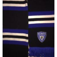 Echarpe SCB BASTIA epoque Ligue 1 noir/bleu/blanc
