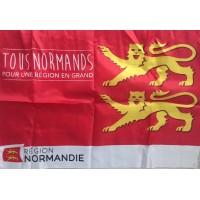 Drapeau TOUS NORMANDS pour une region en Grands