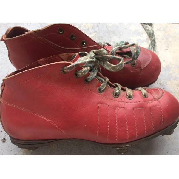 De Adulte Chaussure Crampons Ancienne Rouge 30 Paire Football Années agwF55Bq
