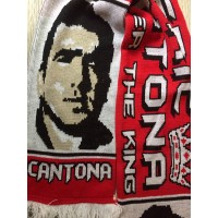Echarpe ancienne ERIC CANTONA FOREVER THE KING Manchester