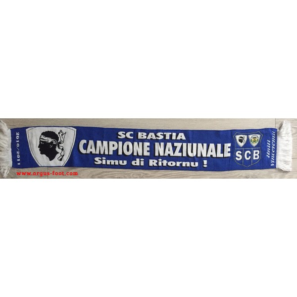 912cdd6ee260 Echarpe SCB Bastia Maillot CAMPIONE NAZIUNALE 2010-2011 - ARGUS FOOT ...