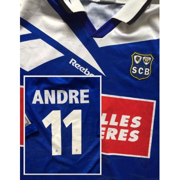 Maillot Bastia porté N°11LFP Pierre-Yves ANDRE taile XL Reebok
