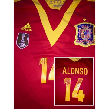 Maillot ESPAGNE N°14 ALONSO taille S adidas FIFA World Cup 2012