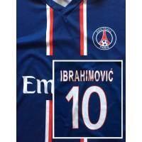 Maillot Replique PSG PARIS N°10 IBRAHIMOVIĆ Zlatan taille XL