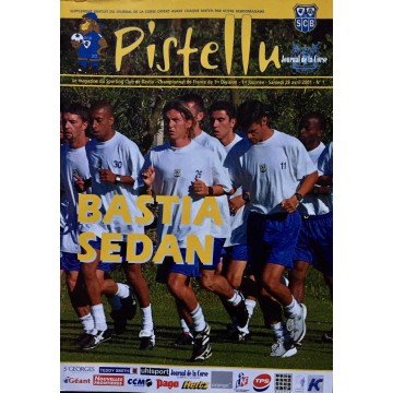 Magazine du SCB Bastia SEDAN  2001 PISTELLU N°1