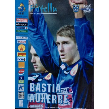 Magazine du SCB Bastia AUXERRE 2003 PISTELLU N°13