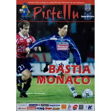 Magazine du SCB Bastia MONACO 2001 PISTELLU N°5