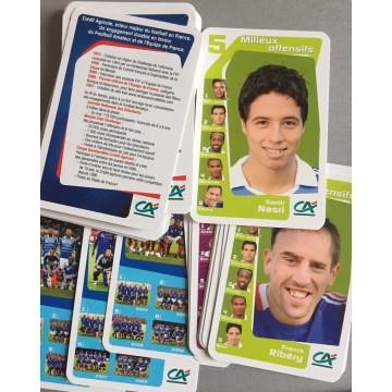 Jeu de carte des 7 familles de l'Equipe de France de Football FFF