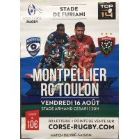 Affiche Rugby MONTPELLIER / RC TOULON Amical Stade Armanc Cesari