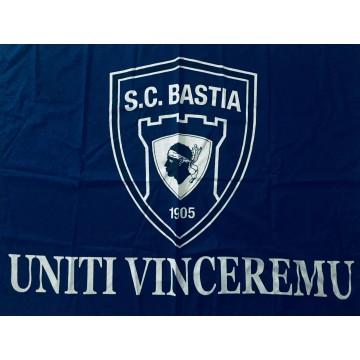 Drapeau GRAND FORMAT SCB BASTIA UNITI VINCEREMU