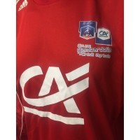 Maillot Coupe Gambardella LFA porté N°11 adidas taille XL rouge