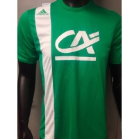 Maillot Football coupe porté N°9 taille M vert adidas