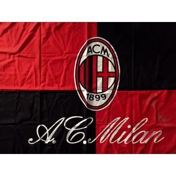 Drapeau MILAN AC Rouge & noir