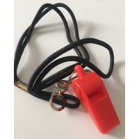 Sifflet arbitre Rouge avec cordon