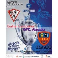 Affiche CDF Gallia Lucciana GFCA 6ème tour
