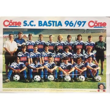 Affiche Poster SCB BASTIA saison 96/97 Division 1