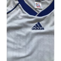 Maillot Adidas Blanc bandes bleus taille L