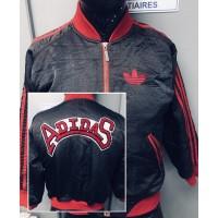 Veste Adidas doublé  Enfant 10ans rouge et noir vintage