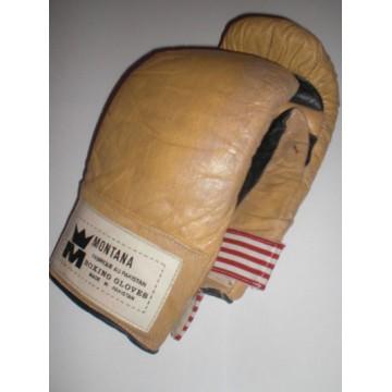 Ancienne Paire de Gants de BOXE MONTANA Boxing Gloves