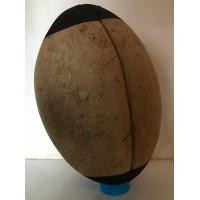 Ancien Ballon RUGBY en cuir vintage