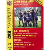 Ancien CORSE FOOTBALL N°8 Mensuel AVRIL 1995