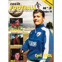 Ancien CORSE FOOTBALL N°3 Mensuel Octobre 1994