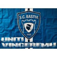 Drapeau SCB BASTIA UNITI VINCEREMU Epoque Ligue 1