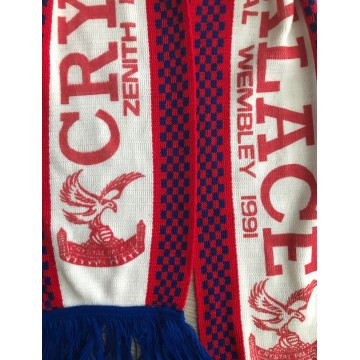 Echarpe CRYSTAL PALACE Zenith Data Systems Cup Final WEMBLEY 1991